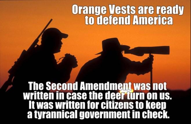 orange vest defend America