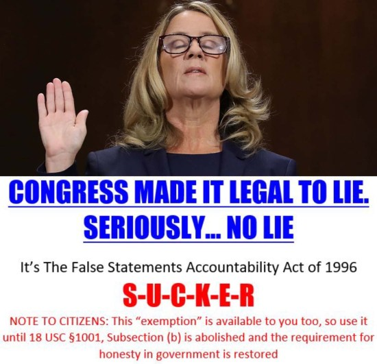 christine ford lies