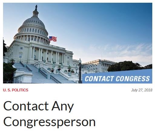 contact any congressperson