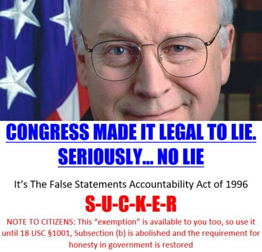 Dick cheney lies