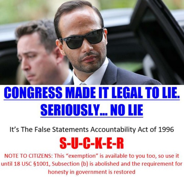 george papaopoulos lies