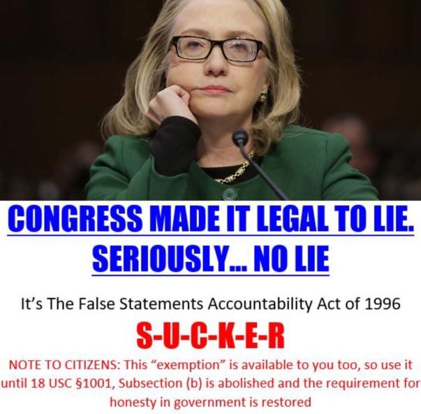 hillary ok to lie 2