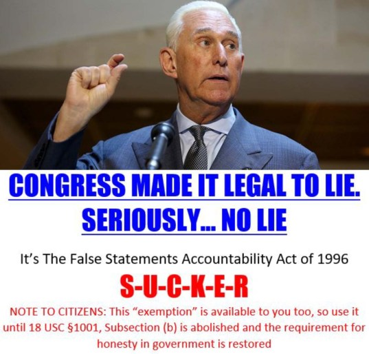 roger stone lies