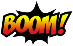 Boom on white background