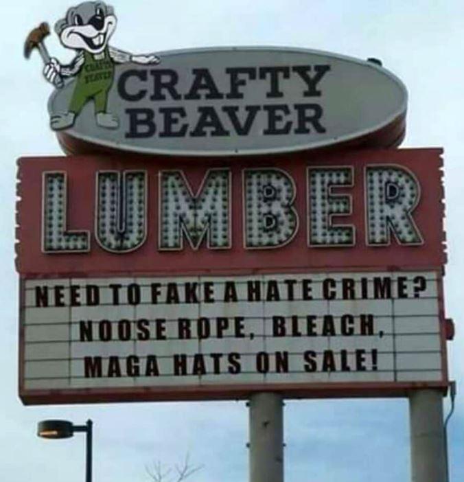 crafty beaver sign