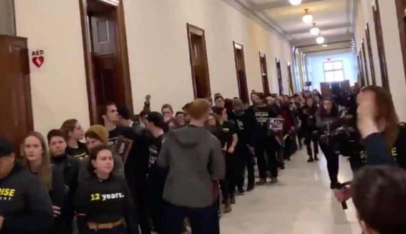 crowds outside GOP offices - Copy