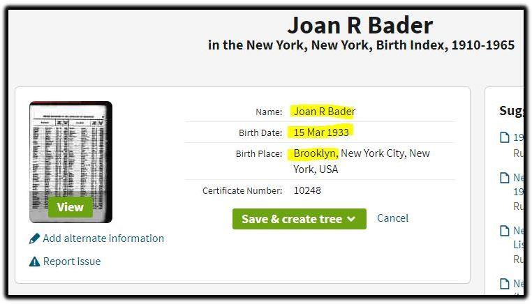 joan r bader