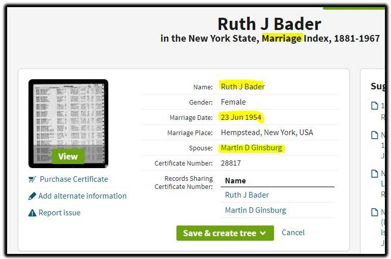 Ruth J Bader 1