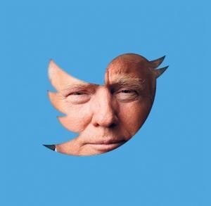 Trump behind tweet screen