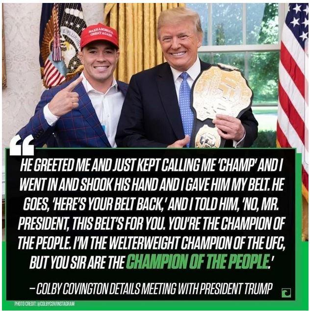 welter weight belt trump