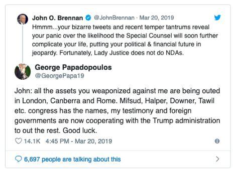 john brennan tweet