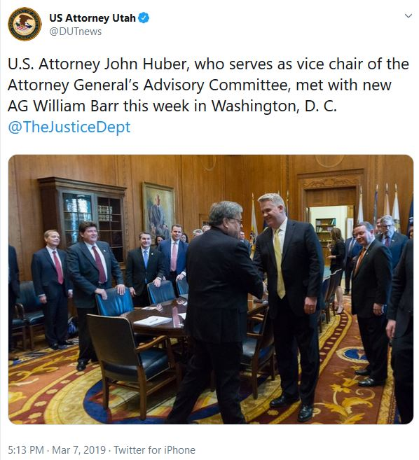John Huber meets Bill BArr