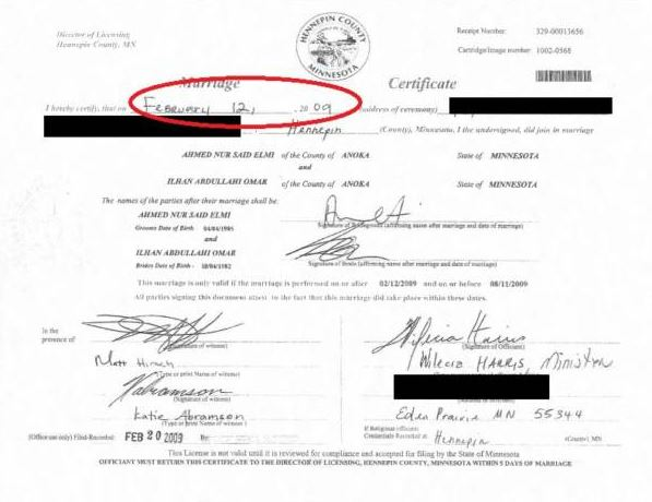 omar marriage certificate