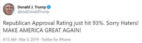 republican approval rating tt
