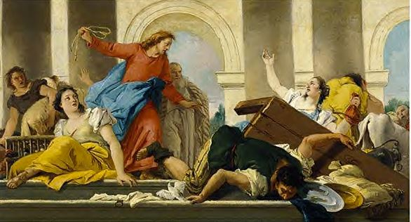 christ in temple with money changers