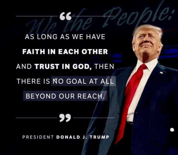 faith in each other trump
