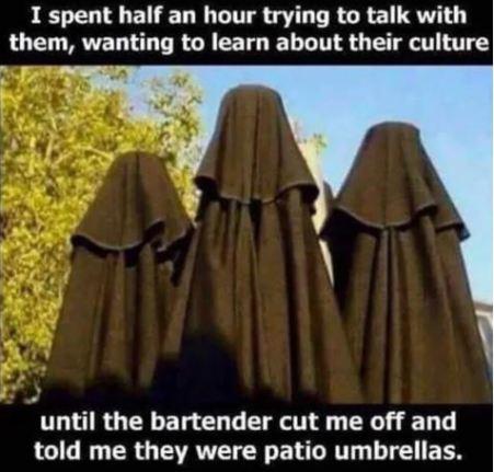 burka umbrella