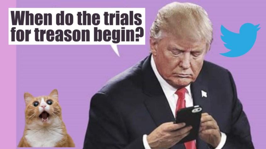 Trump tweets treason