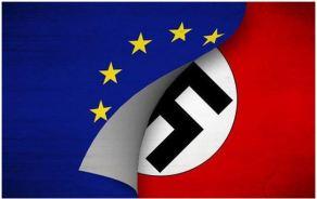 nazi flag under EU flag