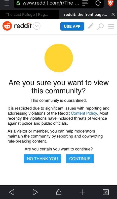 reddit quarantine