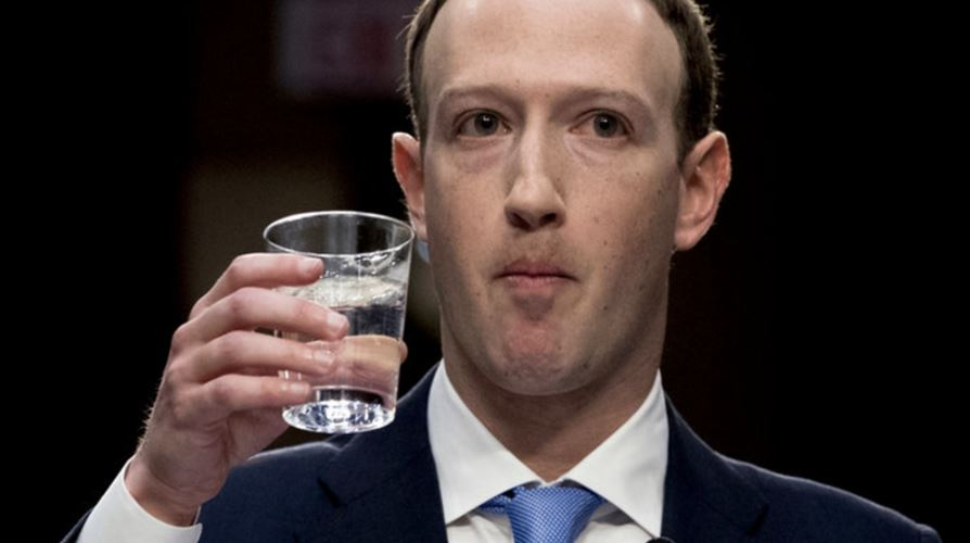zuckerberg drinks water