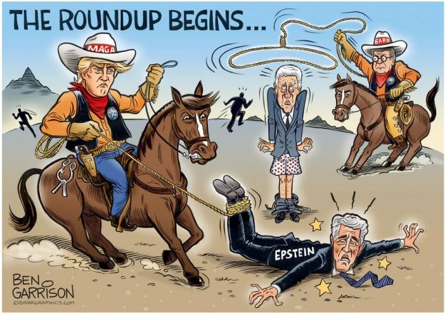 trump maga round up criminals epstein