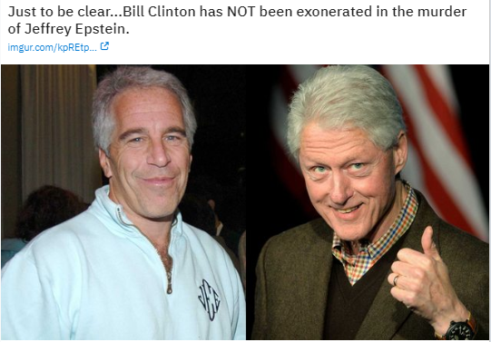 clinton epstein exonerated