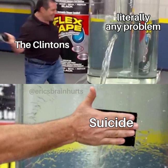 clintons suicide