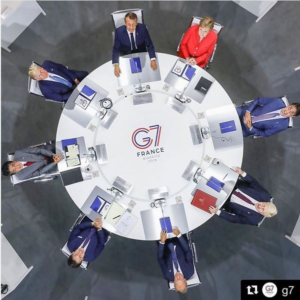 DONALD TRUMP G7 ROUNTABLE