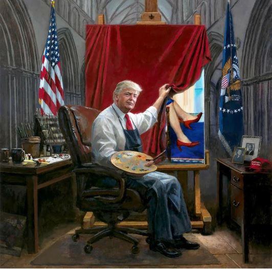 trump painting bill clinton.JPG