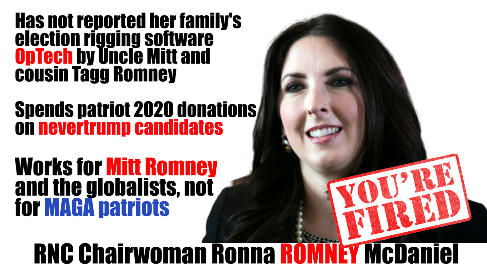 ronna romney fired