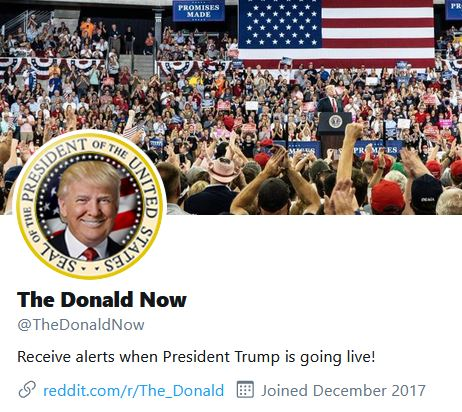 donald now twitter