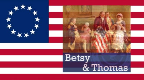 betsy and thomas with flag
