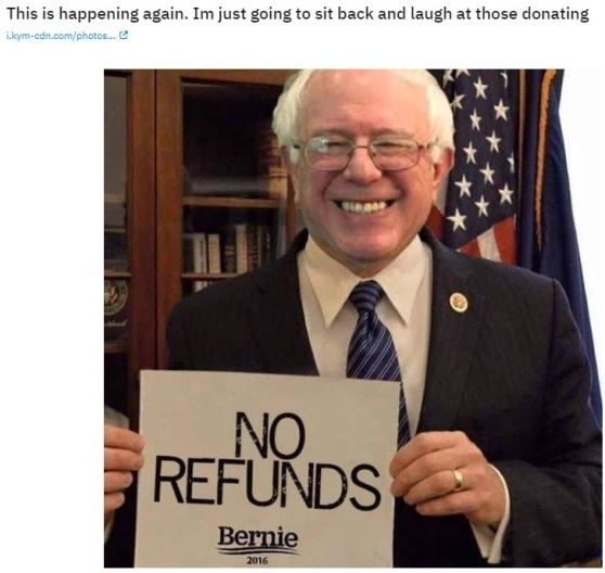 bernie no refunds