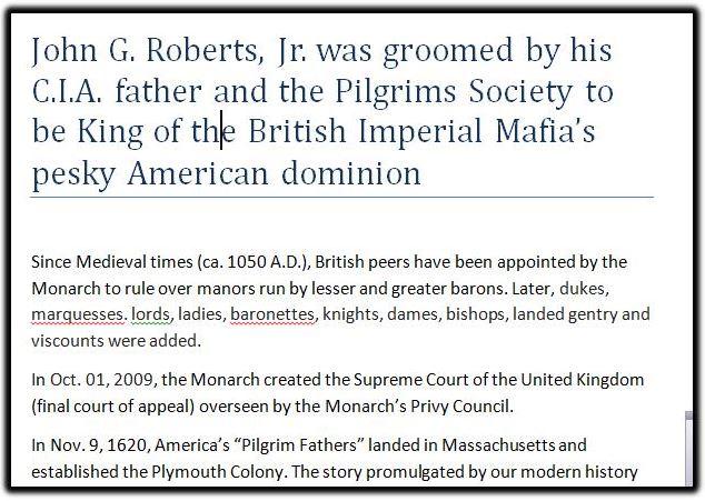 john roberts pilgrim cia