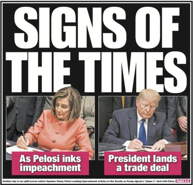 pelosi trump signs