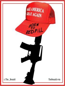 red pill gun maga hat