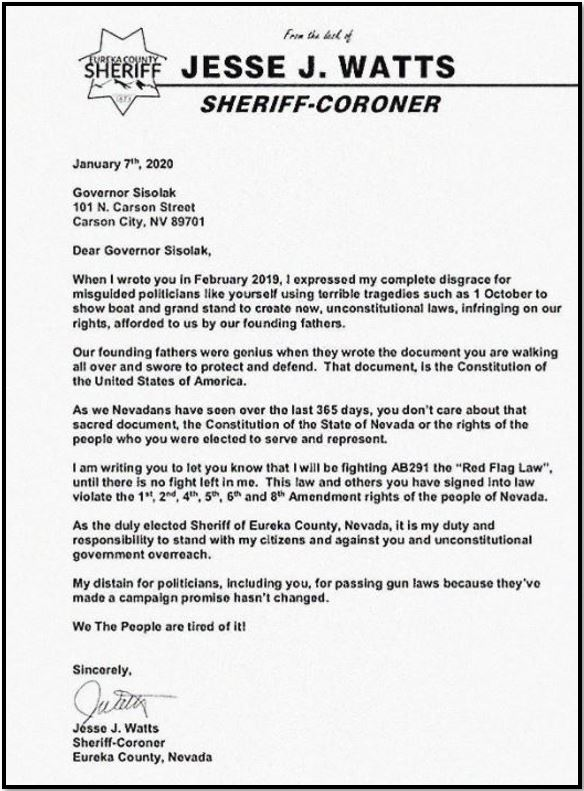 sheriff nevada gun control