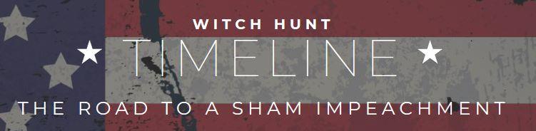 witch hunt timeline