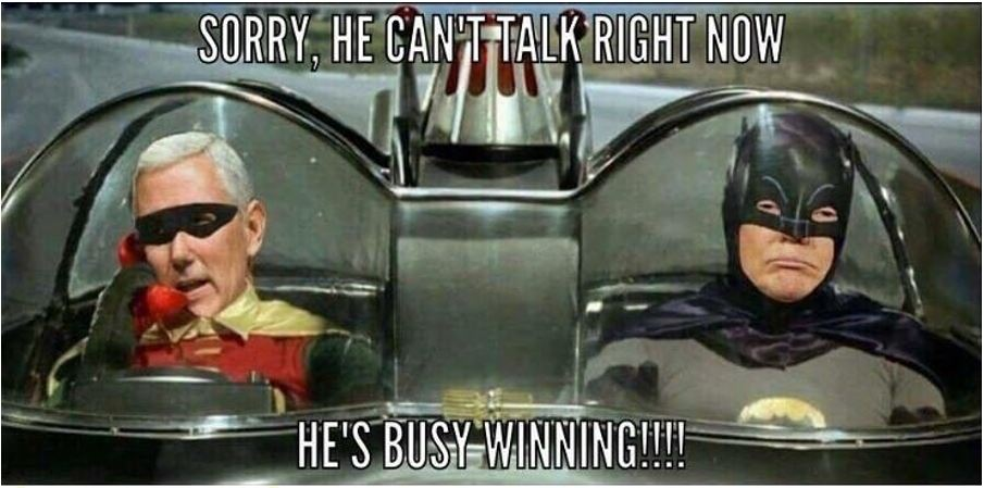 batman trump pence robin winning