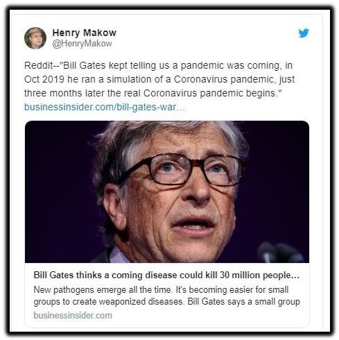 bill gates pandemic corona