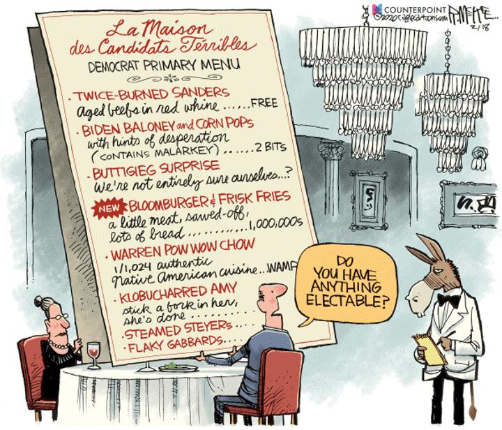 democrat menu