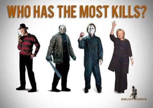 hillary kills