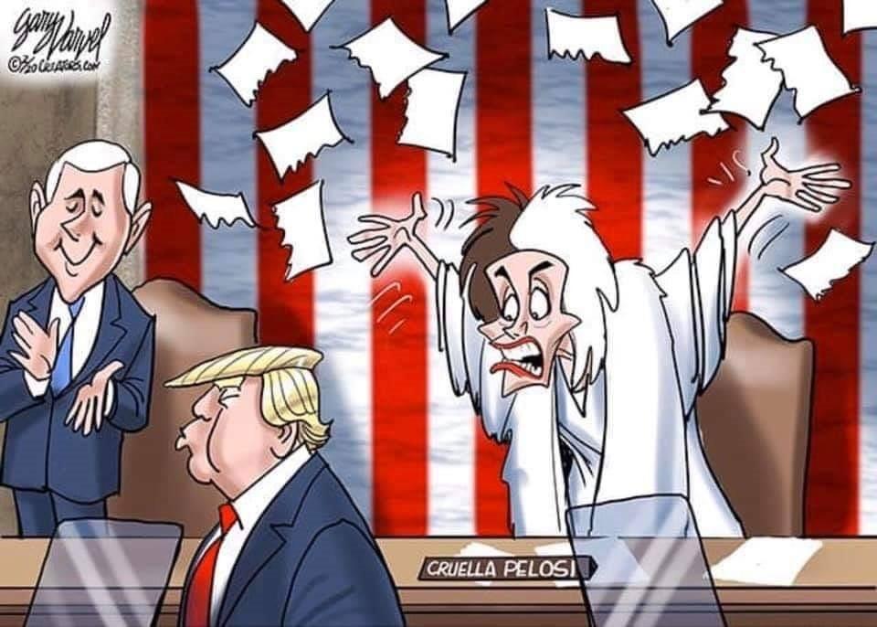 pelosi tears speech cartoon