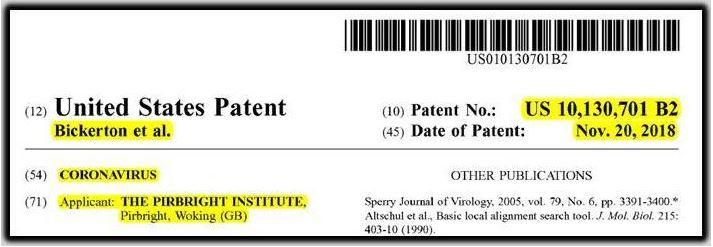 pirbright patent