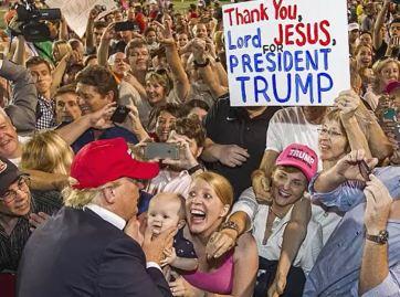thank jesus trump
