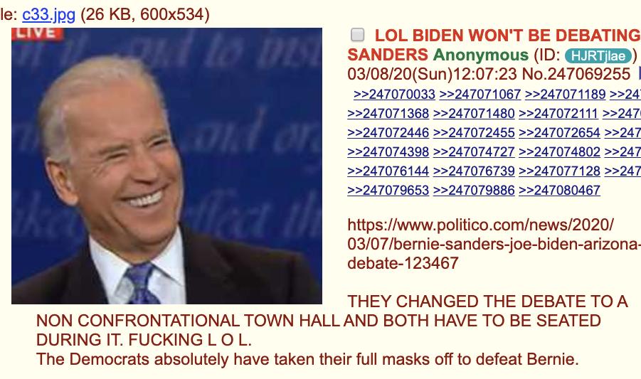 Biden sanders debate