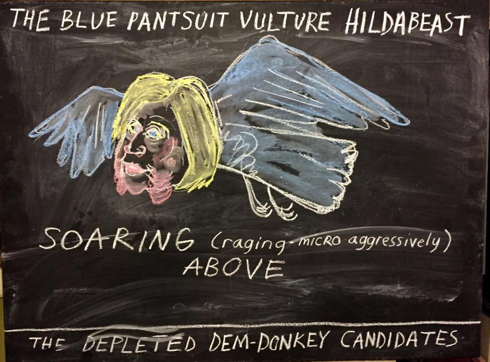 chalk hillary clinton