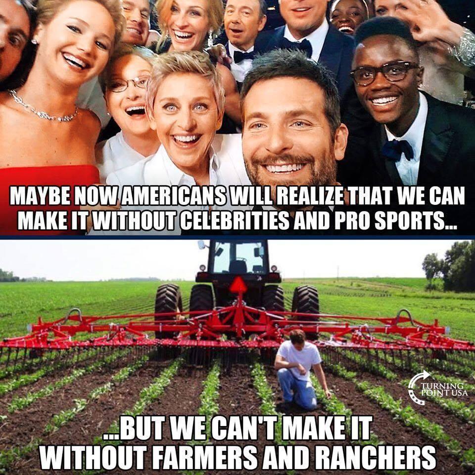 farmers celebrities