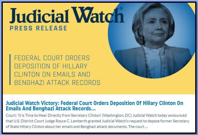 judicial watch hillary clinton